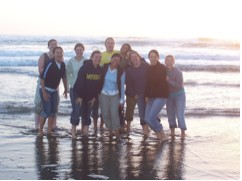 Figure 6. BML-REU students on Salmon Creek Beach. Courtesy: Matt Bracken.