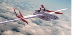 Conceptual Art for the WhiteKnightTwo and SpaceShipTwo at launch altitude. (Virgin Galactic)