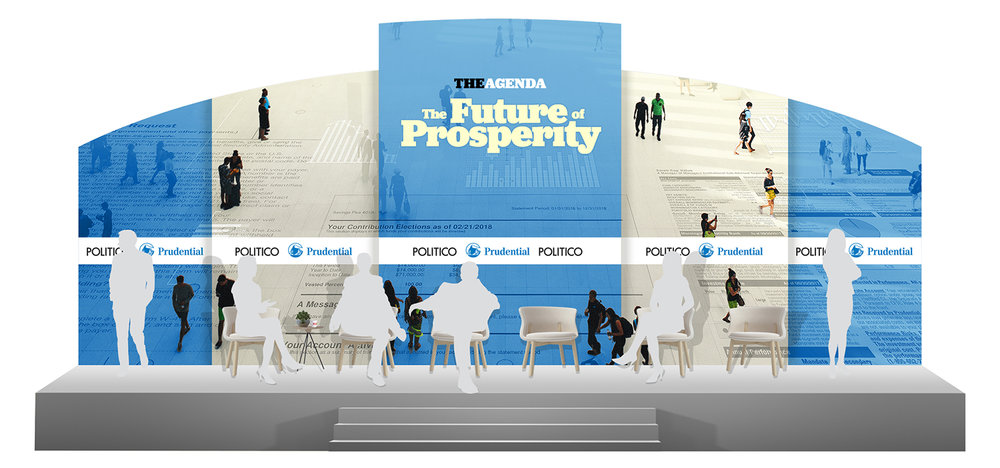 The Agenda - The Future of Prosperity Series 2018 - Stage Backdrop Mock-Up