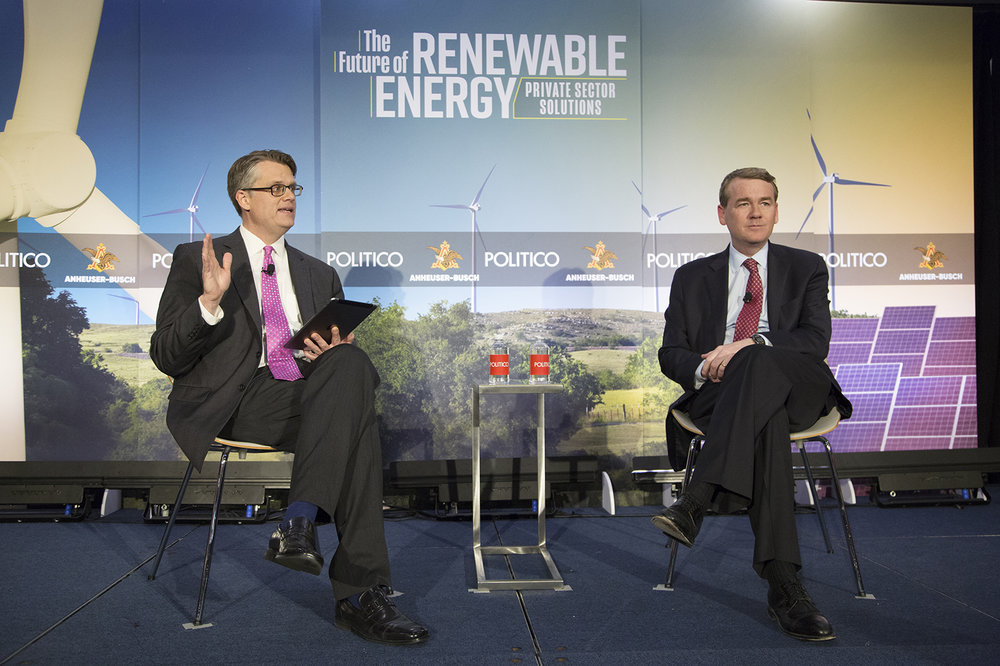 The Future of Renewable Energy 2018 - live event photograph by Lisa Nipp for Politico