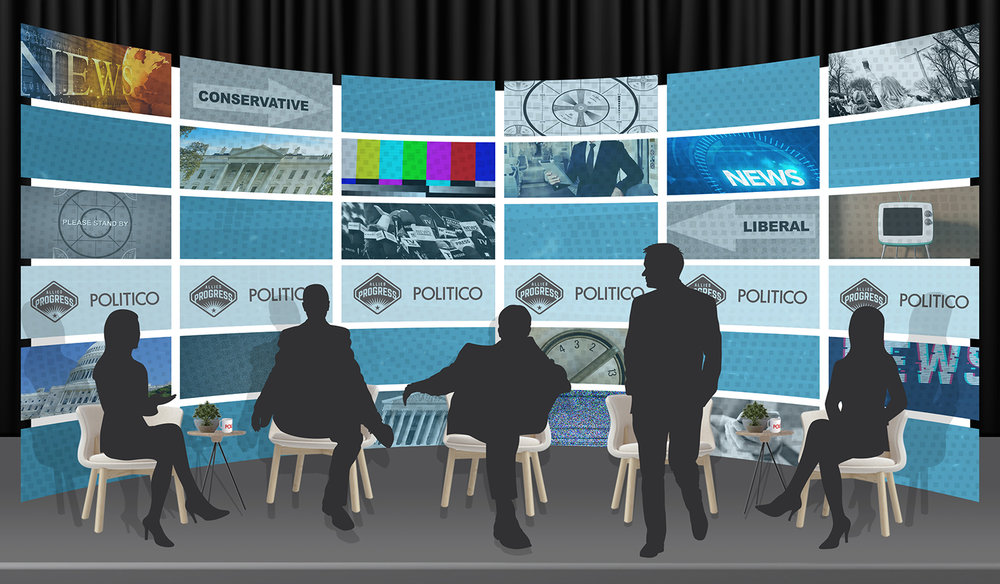 The Media and Polarization: Golden Age or End of an Era? - Stage Backdrop Mock-Up