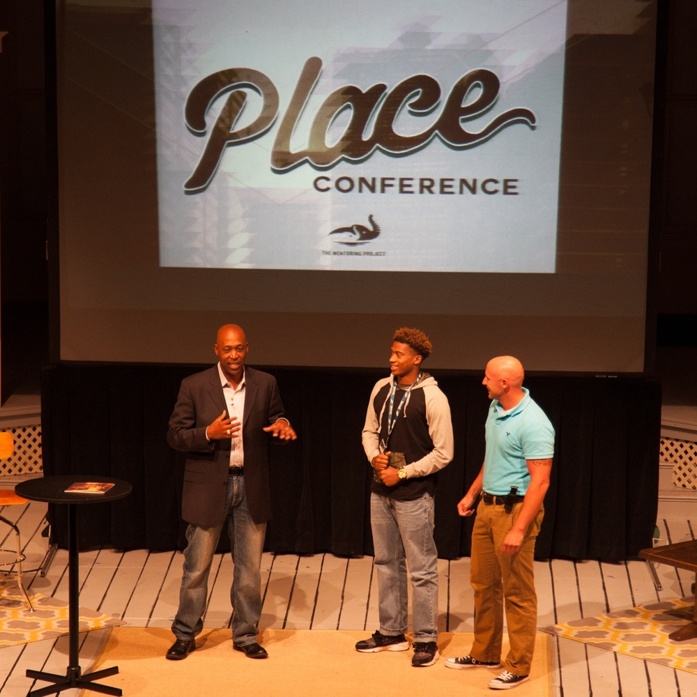 Lt. Wayland Cubit speaking at Place Conference, presented by The Mentoring Project