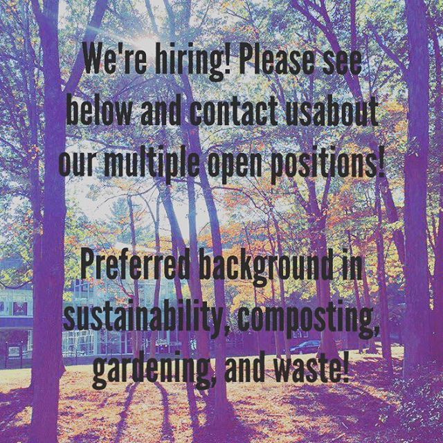 We're hiring! Please contact us at palmbeachcompost@gmail.com if you would like to learn more! We have open supervisory and lower tier positions! Preferred background and passion in sustainability, composting, gardening, and/or waste diversion. #opportunity #southflorida #sf #palmbeachcompost #jobopp #jobopportunity #wastediversion #composting #gardening #sustainability #position