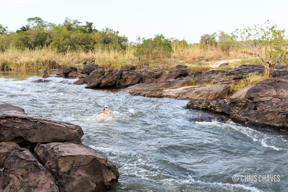 Swimming in the Kavango River