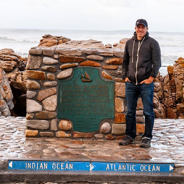The southern most tip of Africa where the Indian and Atlantic oceans meet. 🌊 #southafrica #capeagulhas