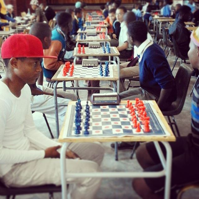 Watching some of my students play in the regions chess tournament, a free trip to the beach for the top 20 😀🌊 #chess #Namibia #peacecorps #peacecorpsnamibia