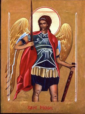 Archangel Michael Icon                 by Christine Hales