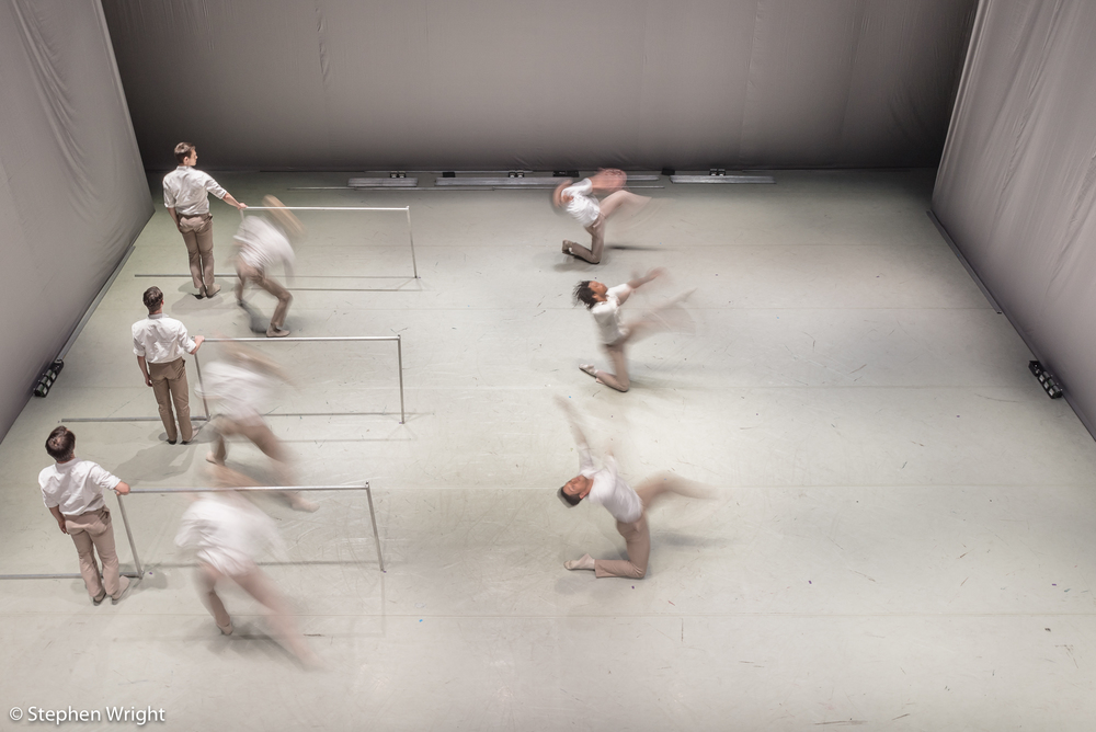 Rambert during performance of Alexander Whitley's work, Frames.