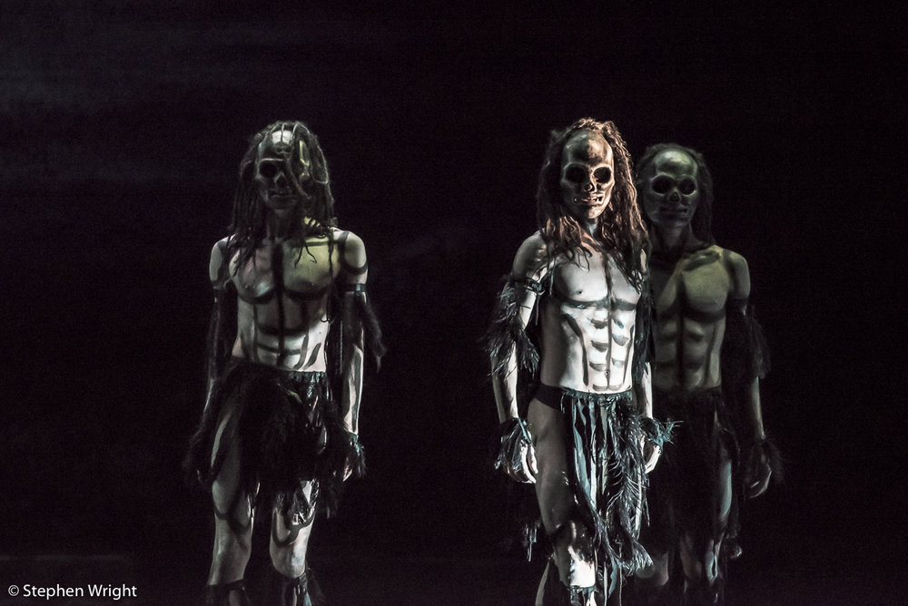 Daniel Davidson, Juan Gil  and  Liam Francis  in  Christopher Bruce 's  Ghost Dances , performed by  Rambert .