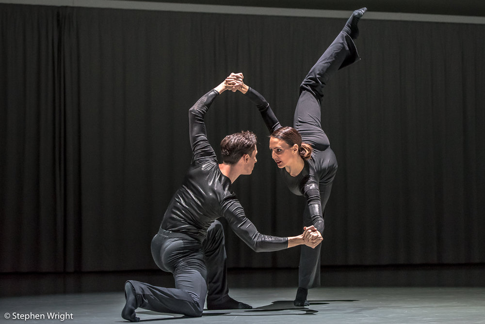 Juan Gil  and  Antonia Hewitt  in  Daniel Davidson 's,  Doublespeak . Performed as part of  In the Making  presented by  Rambert.