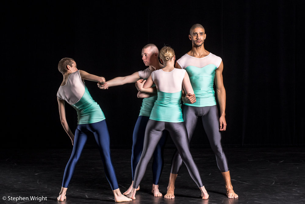 Julie Cunningham,Alex Williams,Hannah Burfield,  and  Harry Alexander  in  Julie Cunningham & Company 's, Double Bill performing at the  Barbican .
