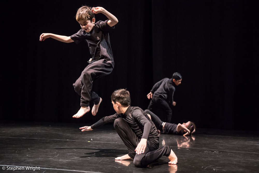 Students from the  Gillespie School  perform at  Sadler's Wells  in partnership with the  Alexander Whitley Dance Company .