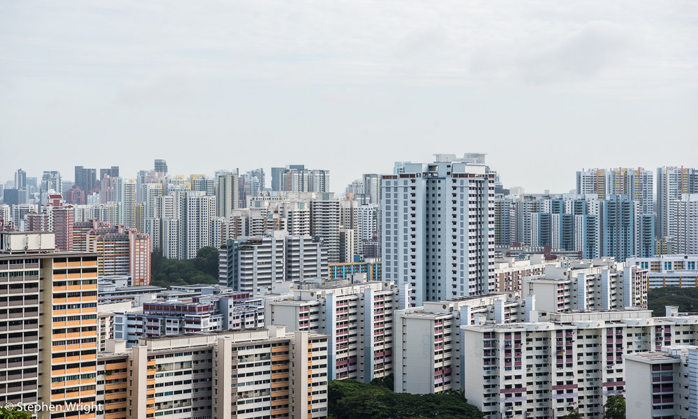 The famous  HDB  flats of  Singapore .