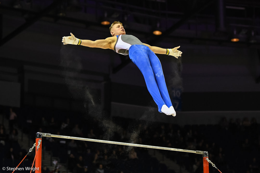 Hamish Carter  on the Horizontal Bar.