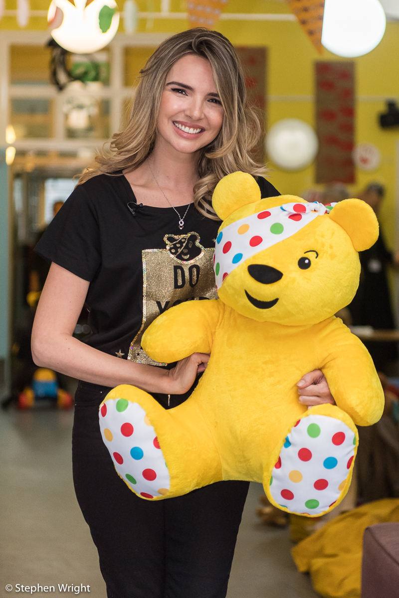 Nadine Coyle  attends a nursery with  BBC Children In Need  and  Asda  to launch the  Power of Play 2018  campaign.