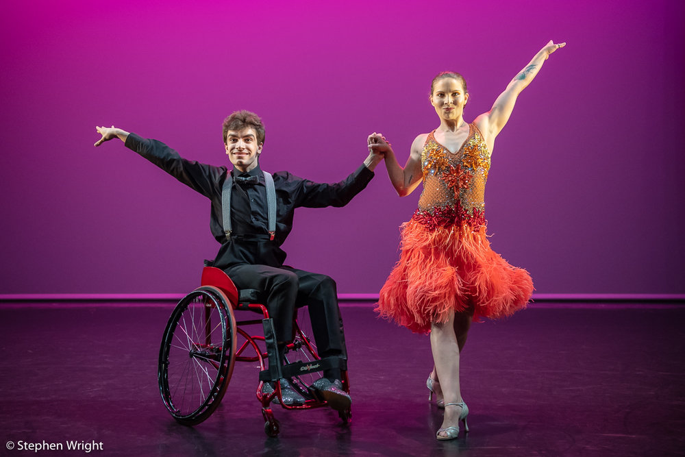 Hannah Bertram  &  Joe Powell-Main  perform a duet during the  Step Change Studios  performance at the  Lilian Baylis .