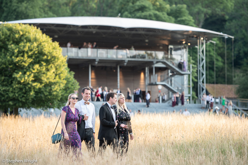 Opera goers enjoy the grounds of  Garsington Opera  in the  Wormsley Estate .