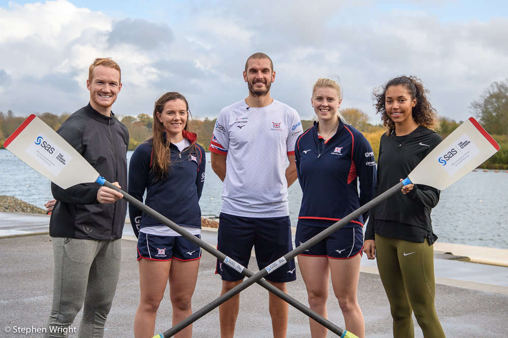 Morgan Lake  and  Greg Rutherford  train with  British Rowing  and  SAS Software .