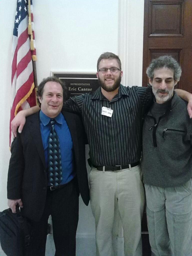 From Left to Right. Dr. Rick Doblin ( MAPS ), Ryan LeCompte ( VET ) and Michael Krawitz ( VMAC ) in Washington D.C. lobbying for the removal of the PHS policy review.
