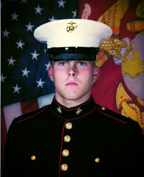 Ryan LeCompte in 2007 at Parris Island, SC