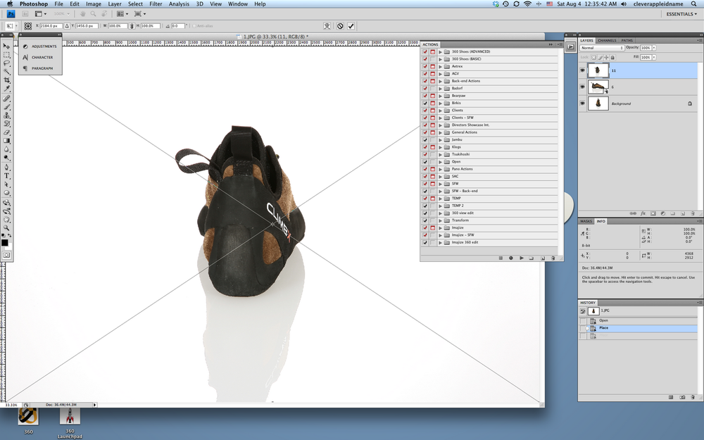 180 degree shoe image