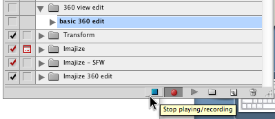 "Click ""Stop playing/recording"""