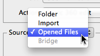 "Select ""Opened Files"""
