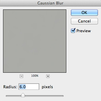 Gaussian Blur with a radius of 6.0 pixels