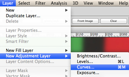 Layer > New Adjustment Layer > Curves
