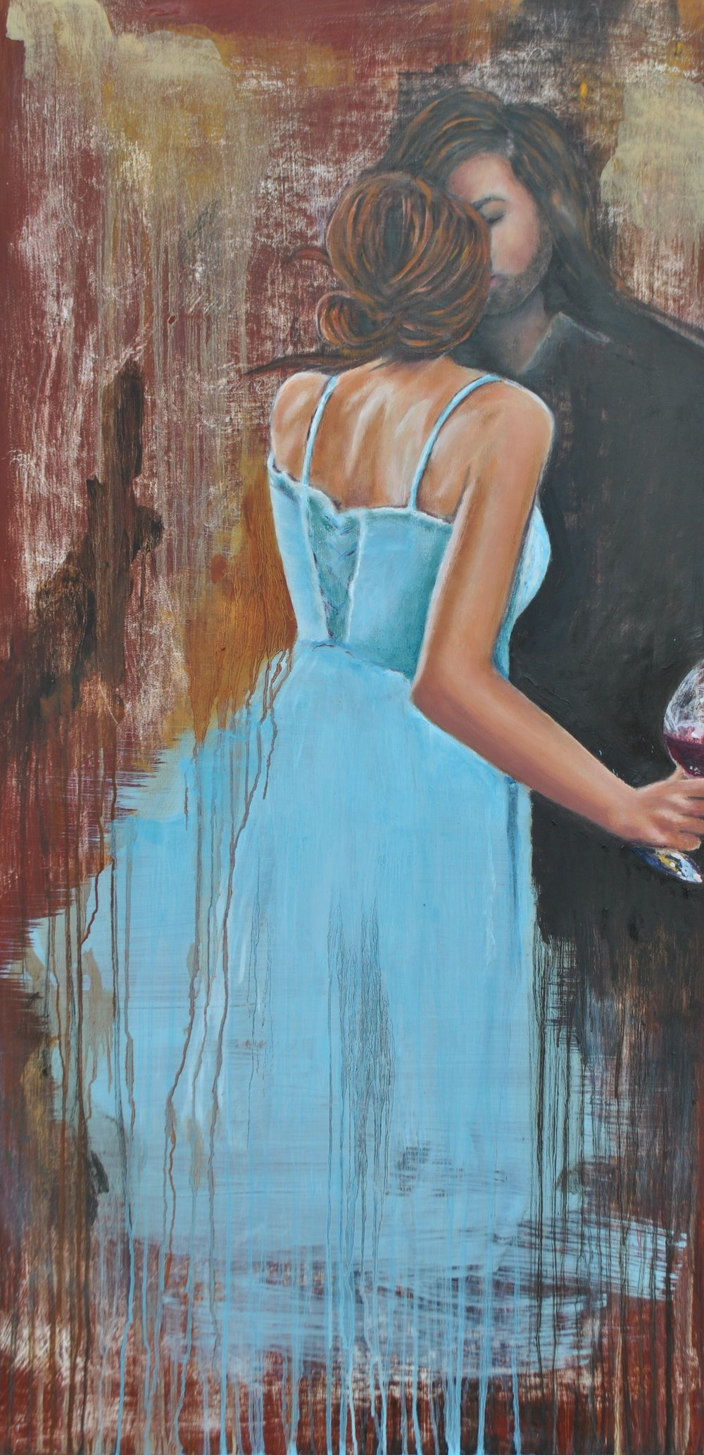 Wedding At Cana, 24x48, Oil On Wood, Available