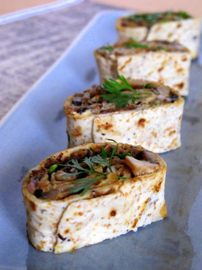 mushroom-pinwheel-wraps