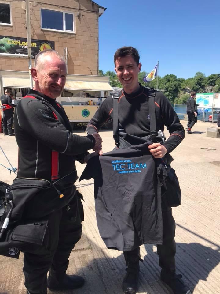 Tony awarding me my hard-earned Tec-Team T-Shirt, Vobster Quay