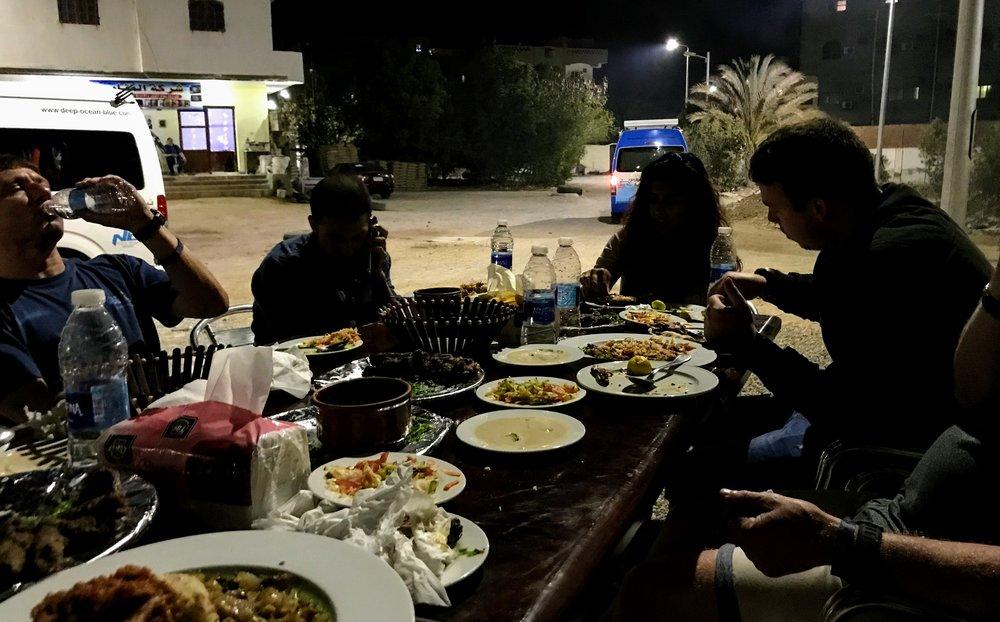Dinner in El Qoseir, Egypt