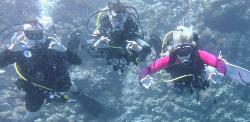 Ant, Me and Janine, Diving in Marsa Alam, Egypt