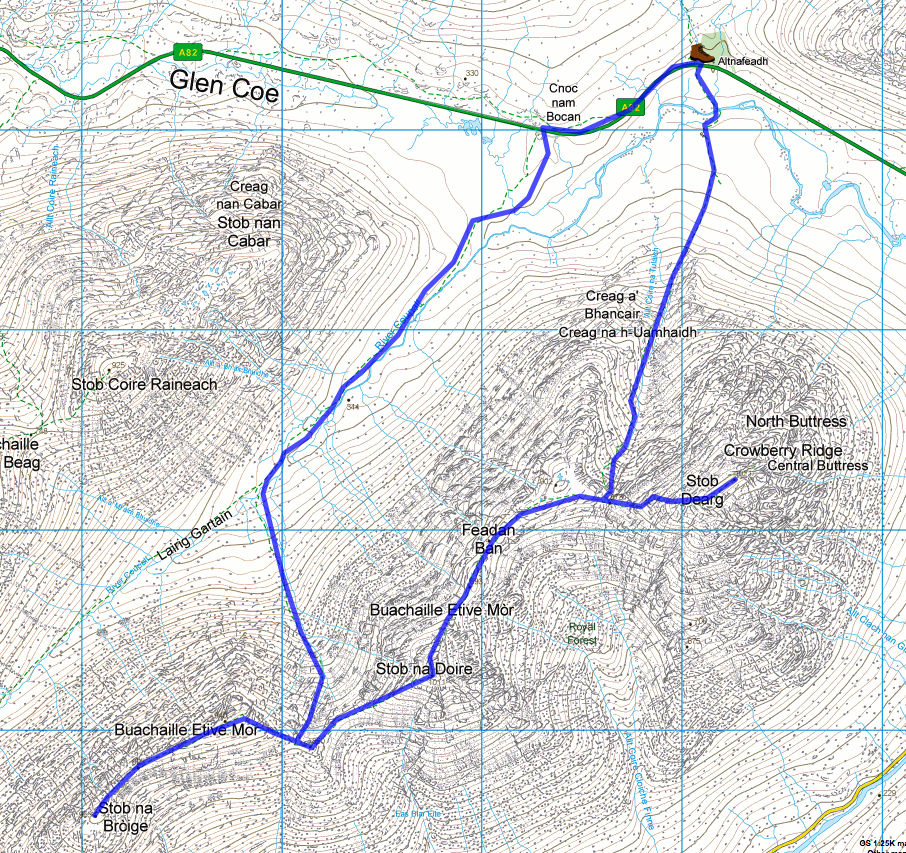 The challenge - from the OS maps.