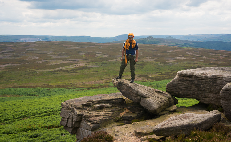 Learning to lead outside - Thanks to JLR ELS funding & Red Point - Birmingham. Stanage, Peak District. May 2014.