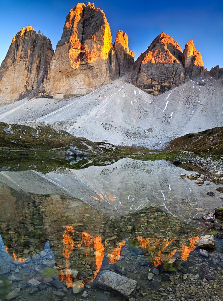 The three peaks of Dolomites.