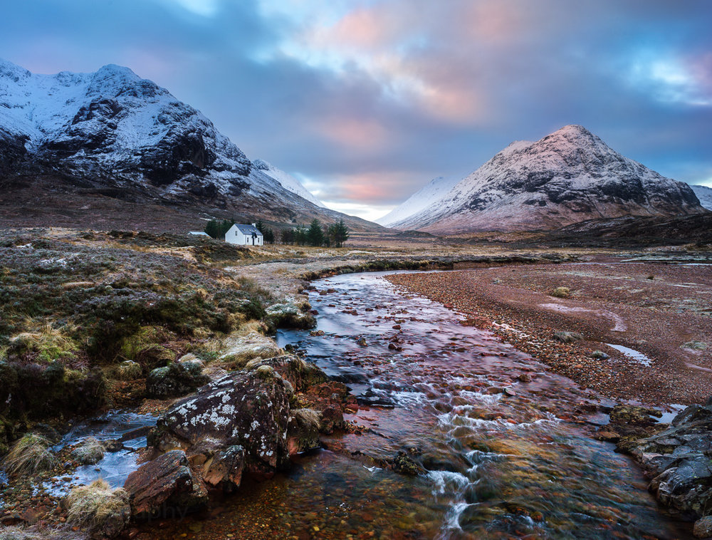 Glencoe, Scotland. Sony A7ii + Loxia 21mm. Pol filter and 2 stop Graduated Neutral Density filter. Please click to enlarge.