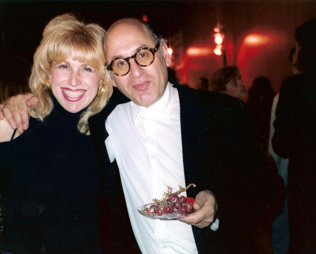 With Michael Nyman, composer at premier of The Piano