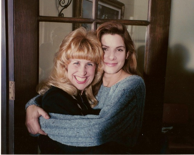 With Sandra Bullock on set of The Net