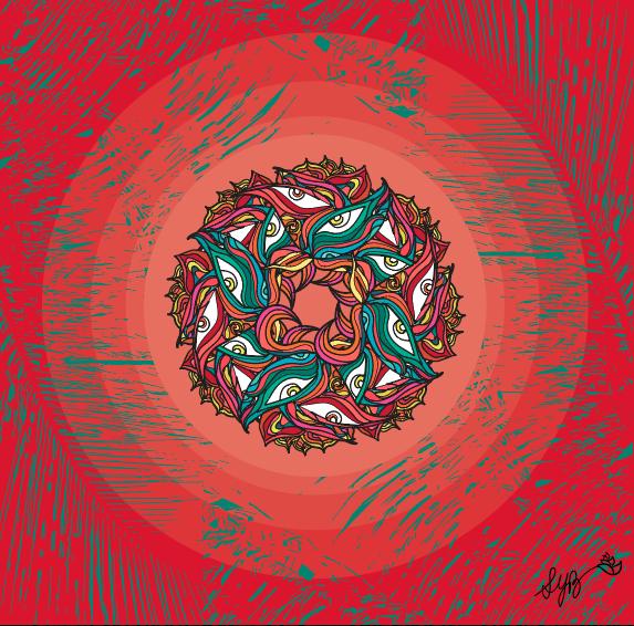 Jungle Mandala - Inspired by Tulum, Mexico