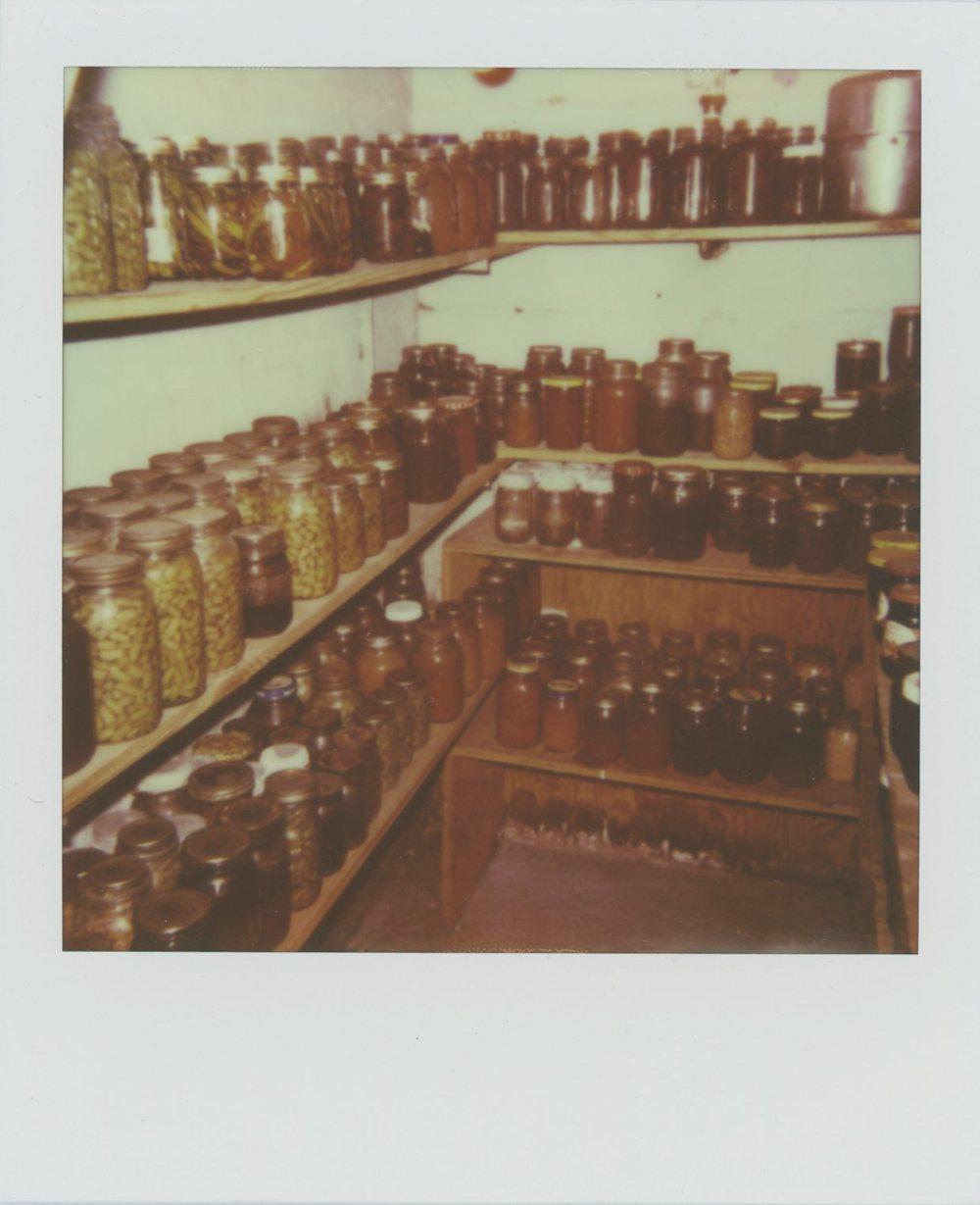 Basement Canning Room