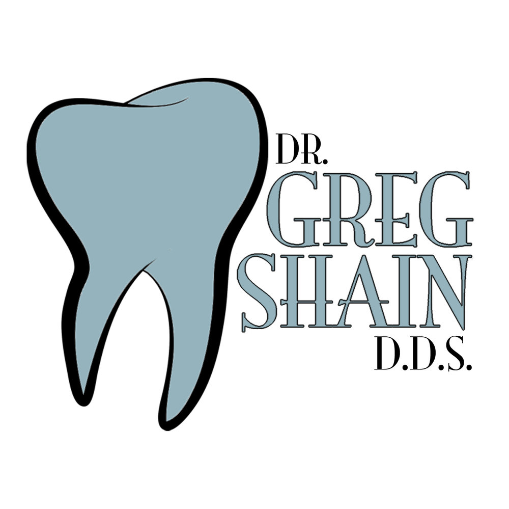 A logo I designed for Apple Valley dentist and orthodontist Dr. Greg Shain.