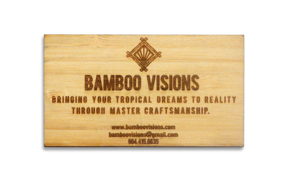 bamboo business cards - Fieldstation.co