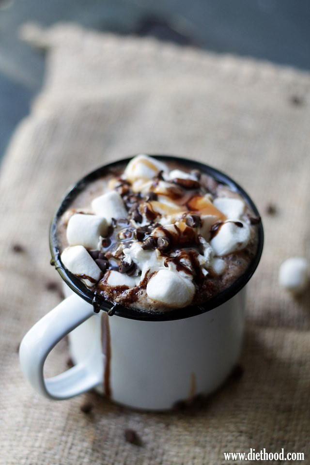 Coffee, cocoa, cinnamon, cayenne pepper and nutmeg come together in this delicious Spicy Hot Chocolate Mocha drink. View the full recipe and enjoy here.