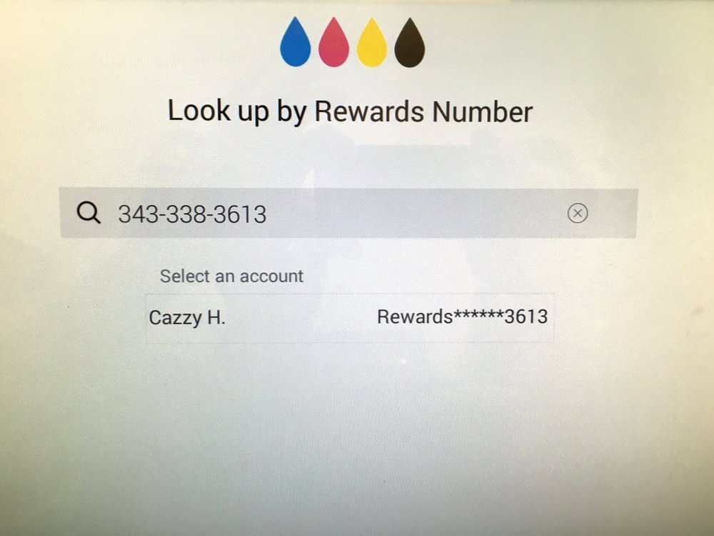 Looking up Rewards or purchase history by phone number. Easy!