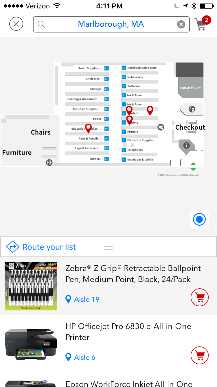 Staples - In-store product locator (web)