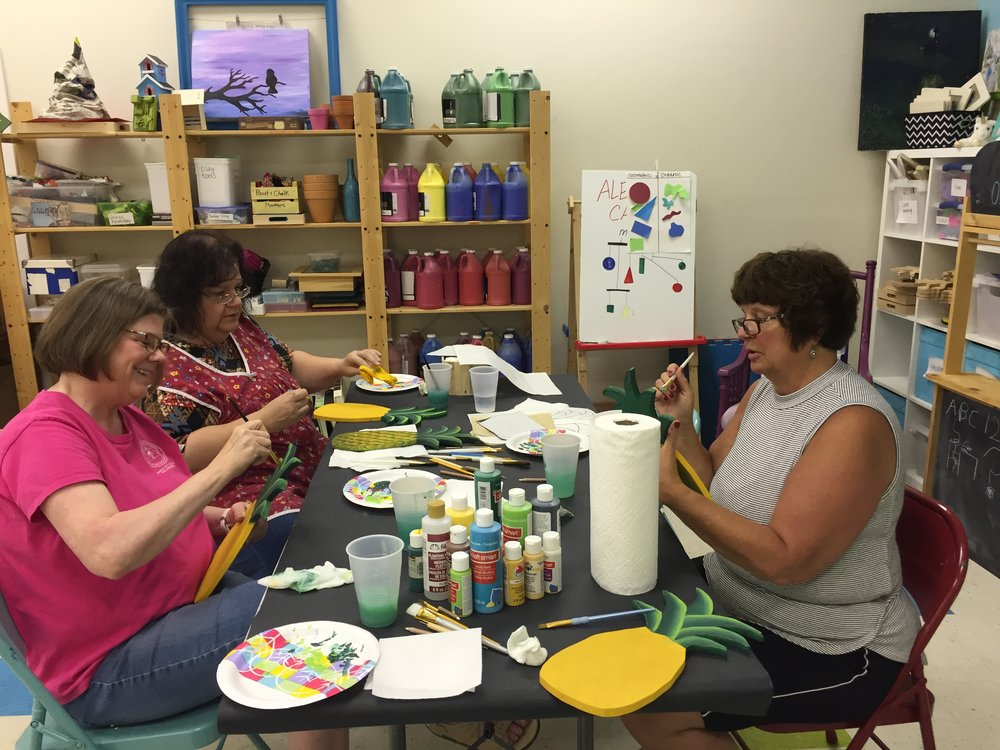 Welcome pineapple class at Artfully Yours Williamsburg, VA.