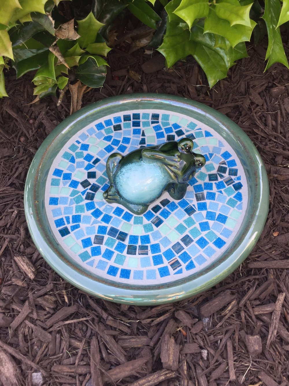 Saturday, March 17 at 9:30 AM - 2:30 PM   Mosaic Froggie Birdbath Class   · Hosted by    Artfully Yours Studio     1303 Jamestown Rd, Williamsburg, Virginia 23185    and  Tinted Hues