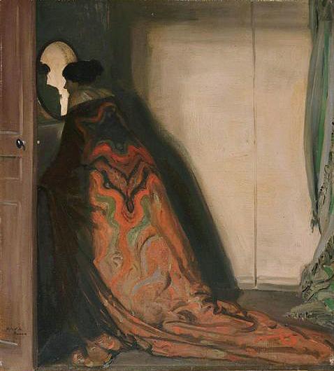 stilllifequickheart :     Alfred Henry Maurer    The Peacock (Portrait of a Woman)    1903